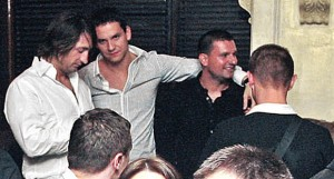 Dusko Saric (right), shown here with Marko Miskovic (middle) told people he owned the club. (Photo: Kurir)