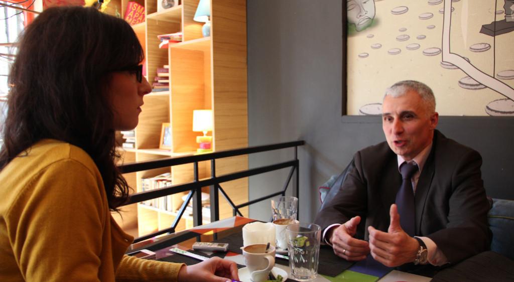 Vladimir Vučinić s novinarkom KRIKa
