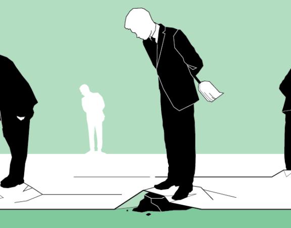 Ilustracija funkcioneri Politike