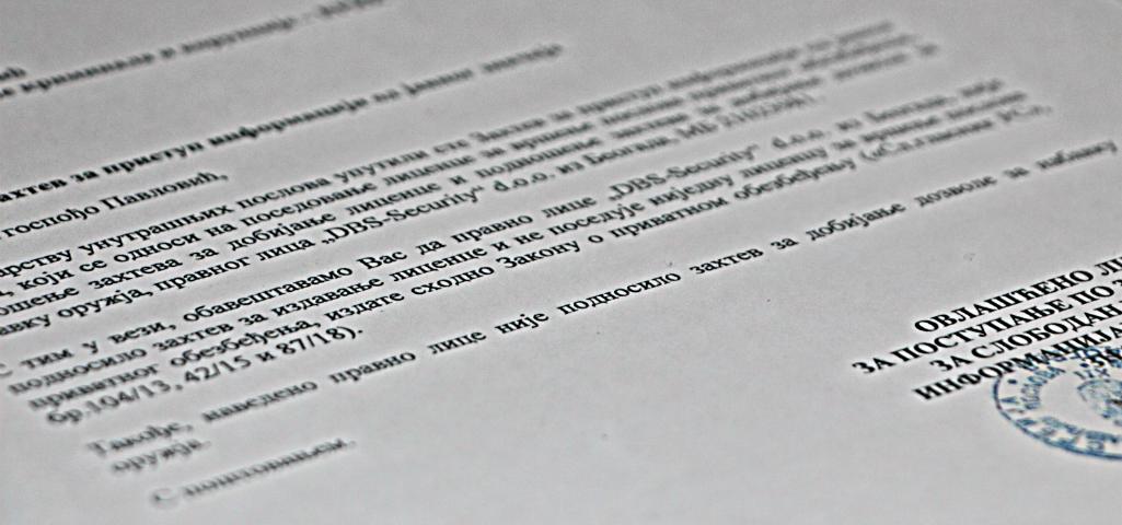 DBS-Security-ne-poseduje-dozvolu